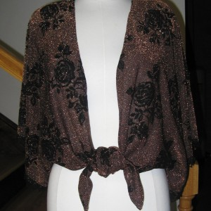 Black_Copper Wrap Overblouse