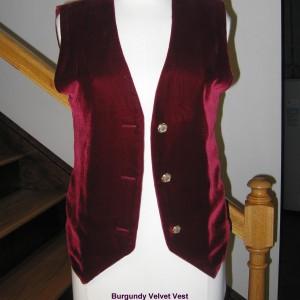 Burgundy Velvet Vest