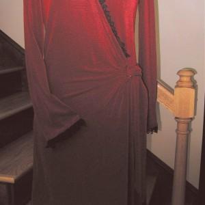 Red Knit Wrap Dress
