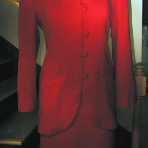 Red Wool Suit