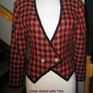 Red_Black Plaid Jacket