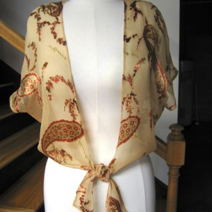 Satin Burn-Out Wrap Overblouse