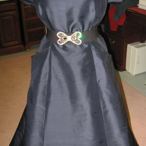 Silk Dupioni Vintage Ball Gown
