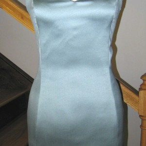 Teal Satin Dress